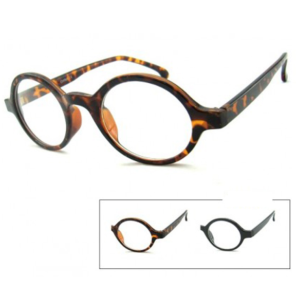 CLEAR LENS OVAL FRAMES IN BLACK & TORTOISE FRAMES